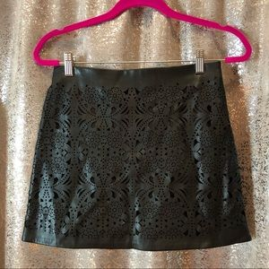 NWOT Forever 21 Lace Leather Mini Skirt